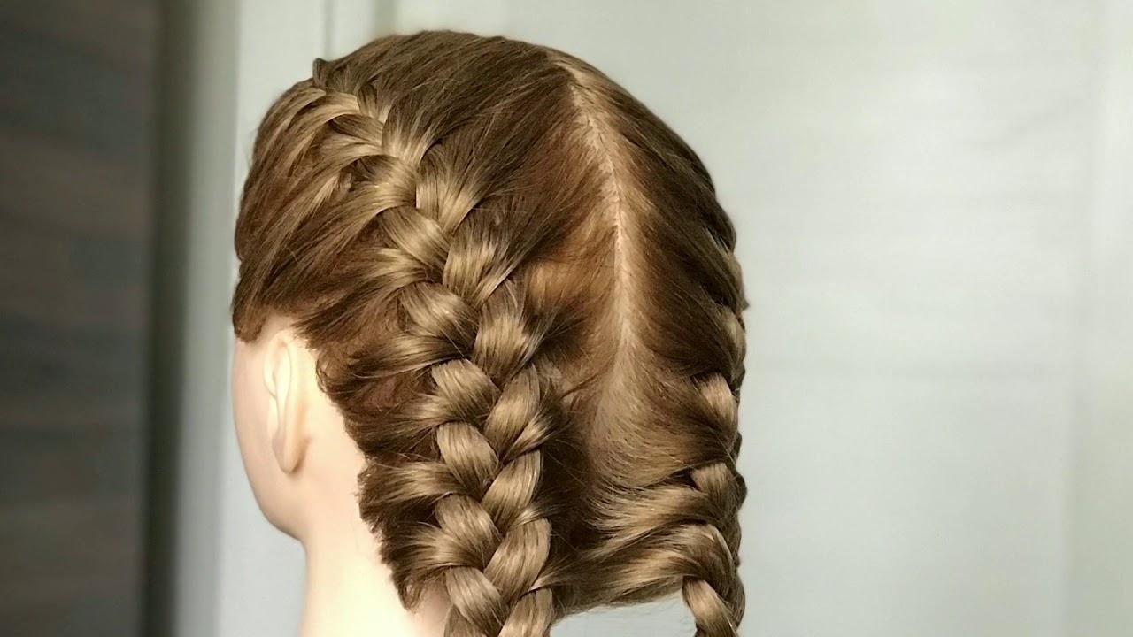 komple örgü saç modeli