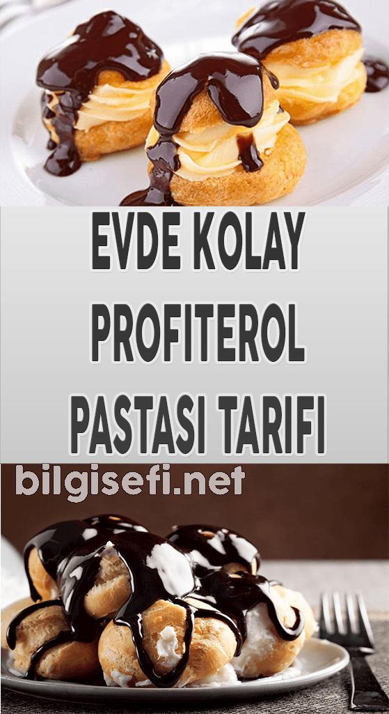 evde kolay profiterol pastası tarifi