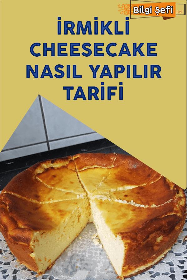 irmikli cheesecake nasıl yapılır tarifi