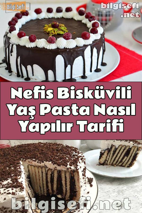 Bisküvili Yaş Pasta Nasıl Yapılır Tarifi